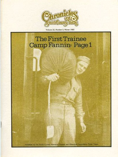 Chronicles of Smith County, Texas, Volume 22 Issue 2, Winter 1983.