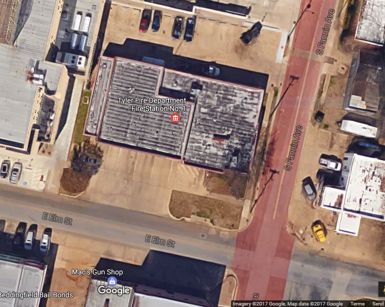 aerial view of #1 fire station