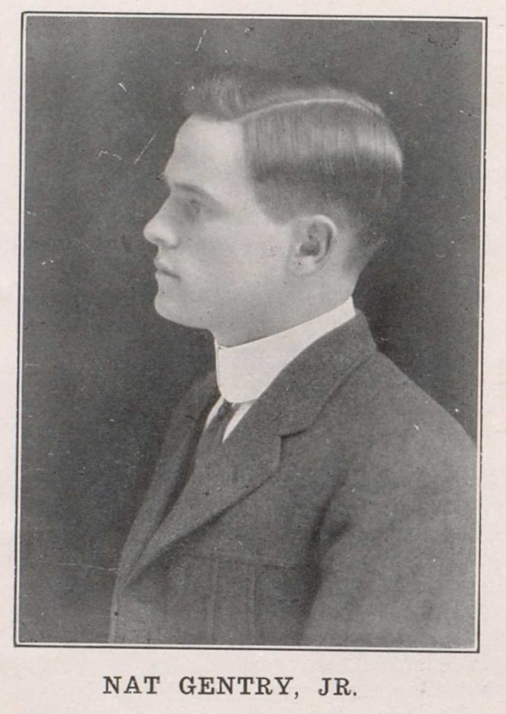 Nat Gentry Jr. from 1916 Alcade, page 72