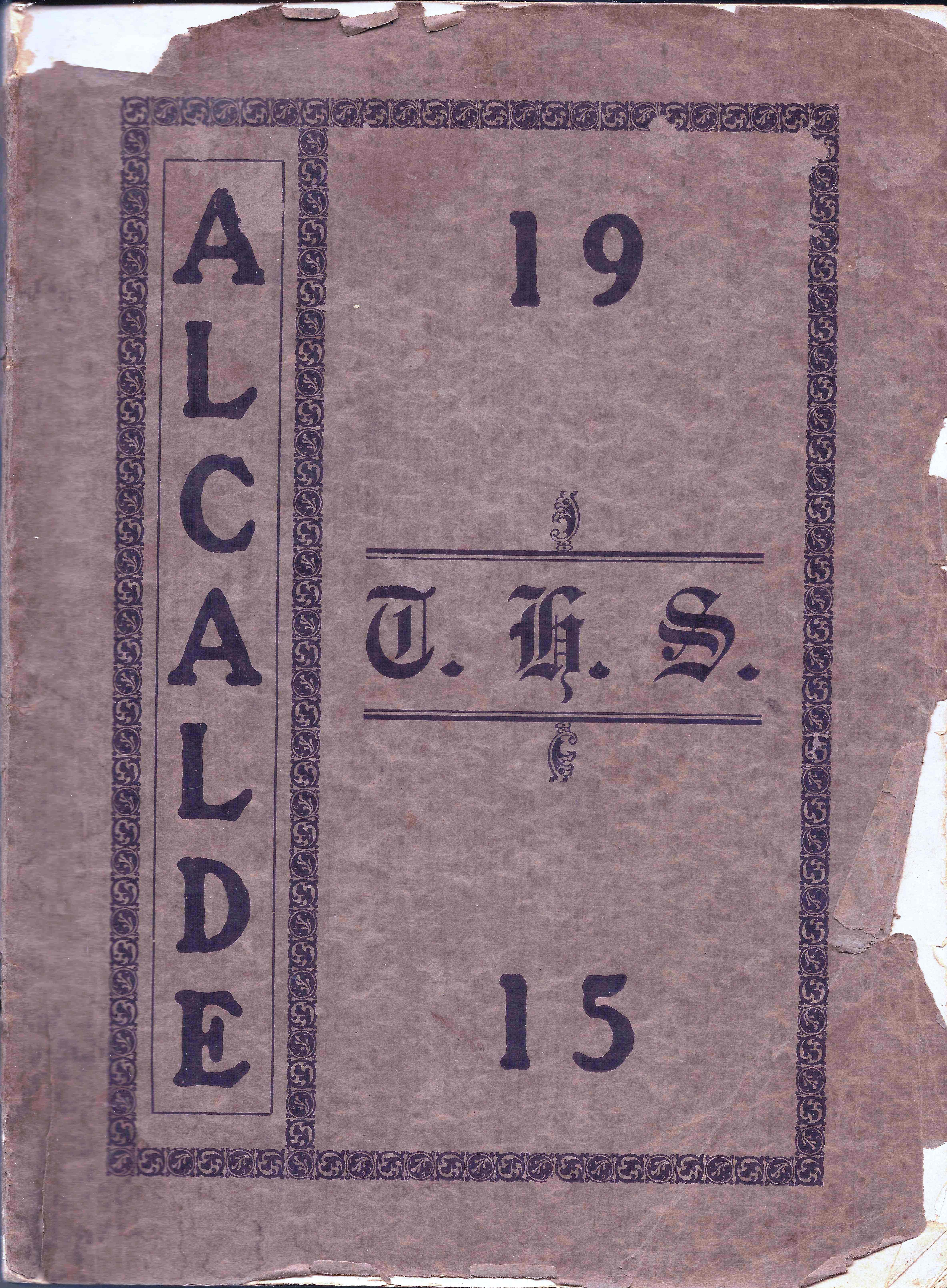 1915 Tyler High School Yearbook Alcalde, Tyler, Smith County, Texas.